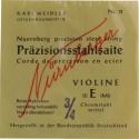 Nürnberger Präzision Saitensatz 3/4 Geige/Violine Chromstahl umsponnen Vollkern mittel