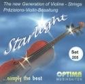 Optima Starlight Saitensatz 4/4 Geige/Violine E-Saite Präzisionsstahl mittel