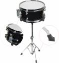 Steinbach Snare Drum 10x6 Zoll für Kinderschlagzeug schwarz inkl. Ständer