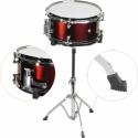 Steinbach Snare Drum 10x5 Zoll für Kinderschlagzeug weinrot inkl. Ständer