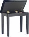 Stagg Klavierbank mit Notenfach in Schwarz matt mit schwarzem Kunstleder