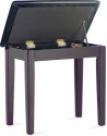 Stagg Klavierbank mit Notenfach in Rosenholz matt mit schwarzem Kunstleder