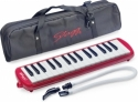 Stagg Melodica 32 Tasten rot inkl. Anblasschlauch