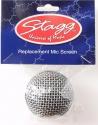 Stagg SPA-M58H Ersatz Kopf aus Drahtgewebe für Mikrofone mit sphärischen Kopf