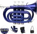 Steinbach Bb- Taschentrompete in Blau mit Edelstahlventilen - Bestangebot!