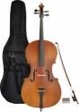 Steinbach 1/8 Cello für Linkshänder im Set handgearbeitet satiniert