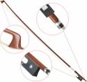 Steinbach 4/4 Geigenbogen bessere Qualität kantige Stange aus Holz mit Rosshaar