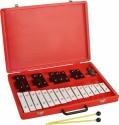 Steinbach Glockenspiel 25 schwarze & weiße Klangplatten zweireihig chromatisch Tonumfang von g''- g''''
