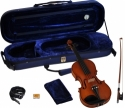 Steinbach 1/2 Geige im SET Ebenholzgarnitur rotbraun satiniert angeflammter Boden