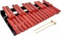 Steinbach Xylophon mit 25 Klangplatten rot zweireihig