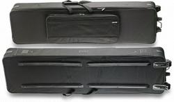 Stagg KTC-150 Leichter Keyboardkoffer 10mm mit Rollen und Griff (148 x46 x 16 cm)