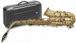 Stagg 77-SA Alt Saxophon, Hoch Fis-Klappe, im ABS-Koffer
