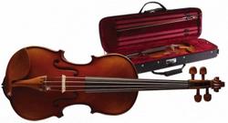 Stagg VN-4/4 X 4/4 vollmassive Geige mit angeflammtem Boden im Deluxe Softcase