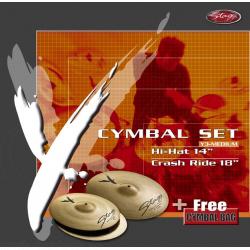 Stagg Y352-SET Einsteiger Beckensatz, medium-leicht
