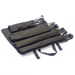 Stagg PSB SET 4 Schwarze strapazierfähige Nylon Falttasche