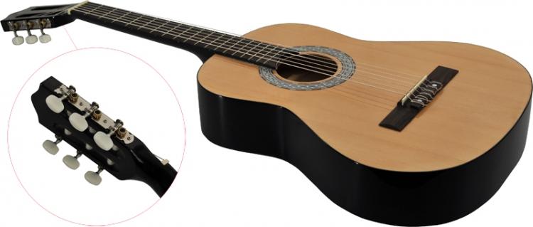 Steinbach 4//4 Konzertgitarre mit gemaserter Fichtendecke natur